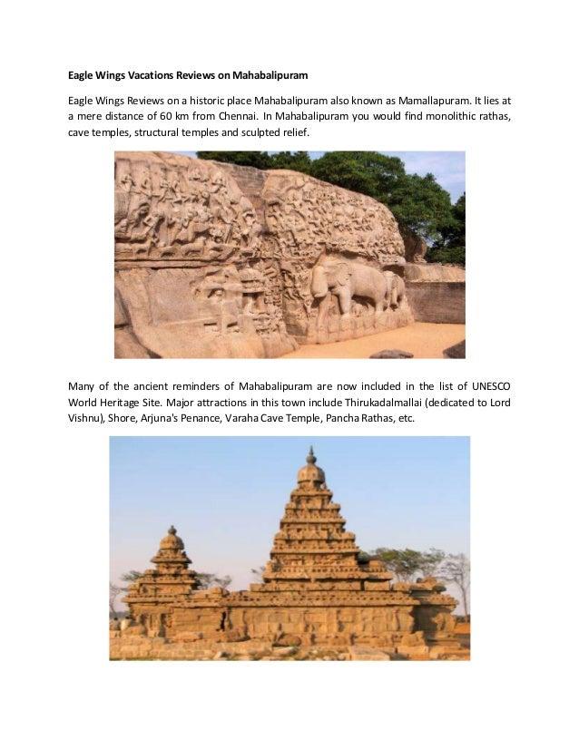 Eagle Wings Vacations Reviews on Mahabalipuram Eagle Wings Reviews on a historic place Mahabalipuram also known as Mamalla...