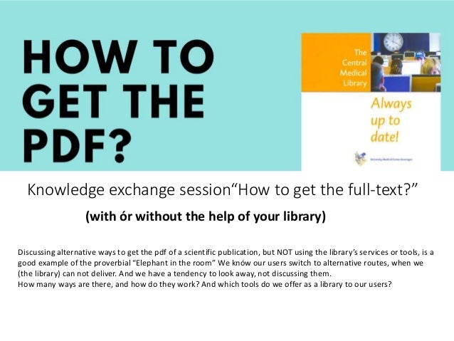 How To Get The PDF : CEC Workshop EAHIL2019 BASEL