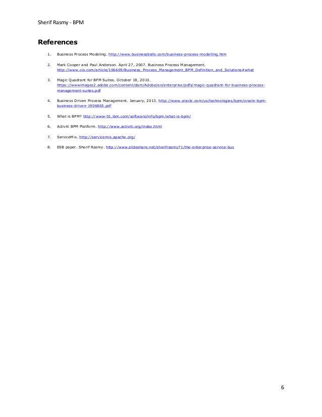 EAI Business Process Management BPM Use Case