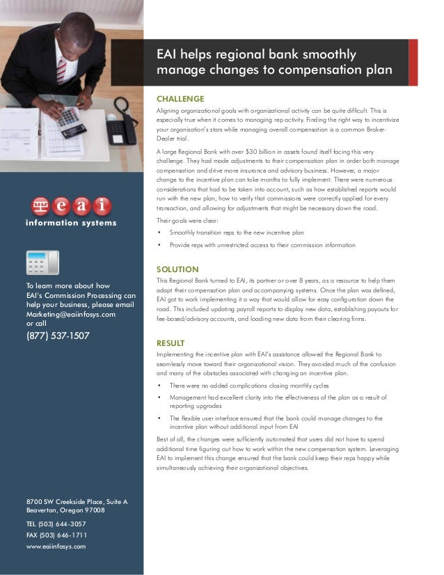 compensation case study This case study is designed to be used as a capstone to a basic compensation unit it will build on and reinforce the technical learning from modules on total rewards.