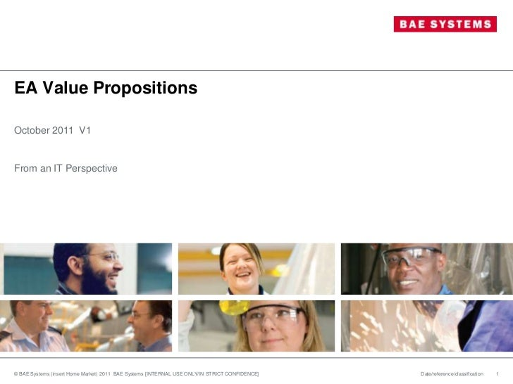EA Value PropositionsOctober 2011 V1From an IT Perspective© BAE Systems (insert Home Market) 2011 BAE Systems [INTERNAL US...