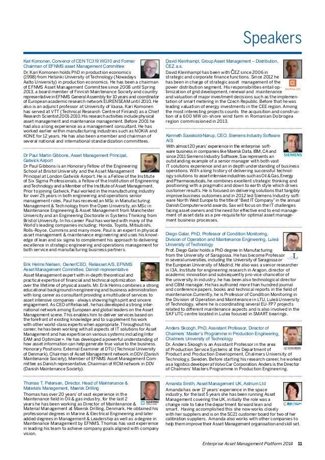 Speakers  Anders Skoogh, PhD, Assistant Professor, Director of  Chalmers' Master's Programme in Production Engineering,  C...