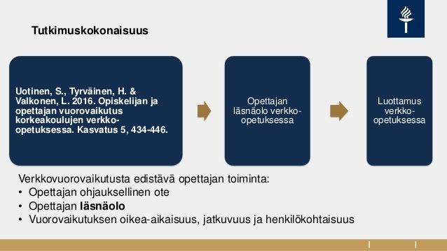 eAMK webinaari: Verkossa - läsnä vai paikalla? Slide 3