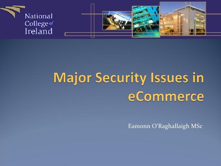 Eamonn O'Raghallaigh MSc
