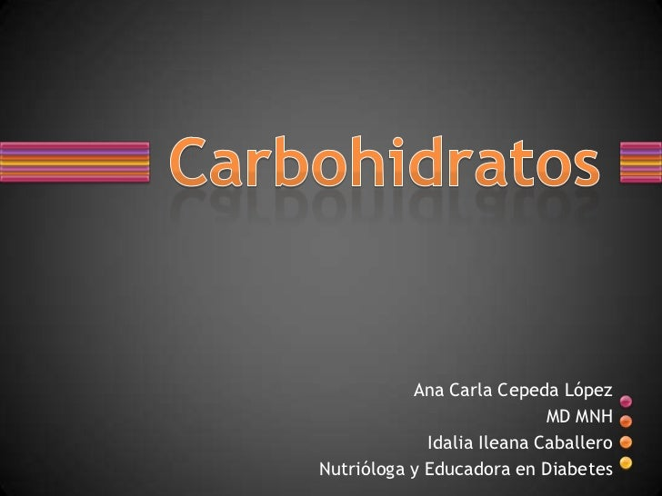 Ana Carla Cepeda López                            MD MNH             Idalia Ileana CaballeroNutrióloga y Educadora en Diab...