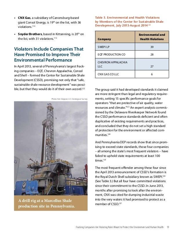 Sham Report on Fracking