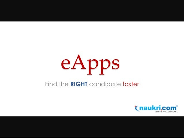 eApps Find the RIGHT candidate faster