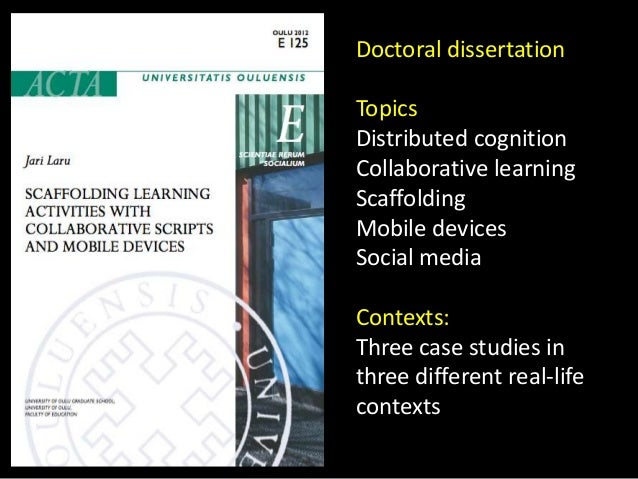 Doctoral thesis topics