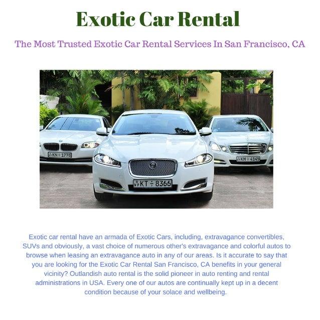 Royal Exotic Car Rental Services In San Francisco Ca