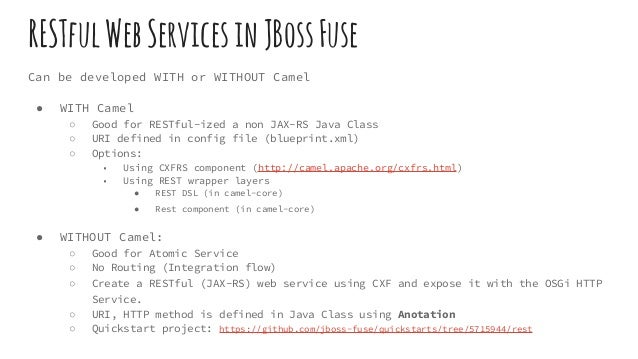RESTful web service with JBoss Fuse