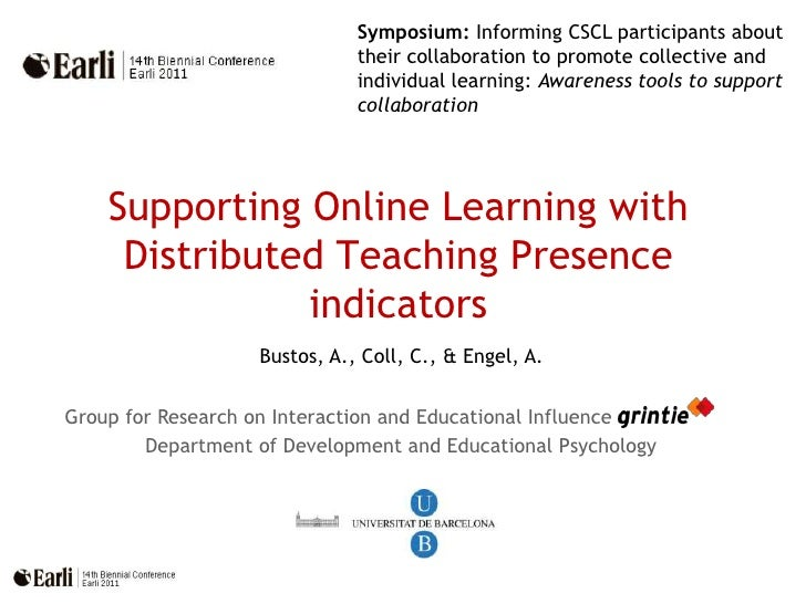 Symposium: Informing CSCL participants about their collaboration to promote collective and individual learning: Awareness ...