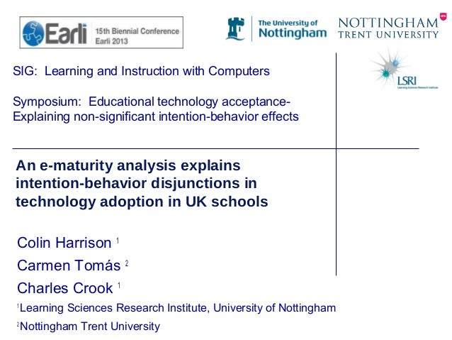 SIG: Learning and Instruction with Computers Symposium: Educational technology acceptance- Explaining non-significant inte...