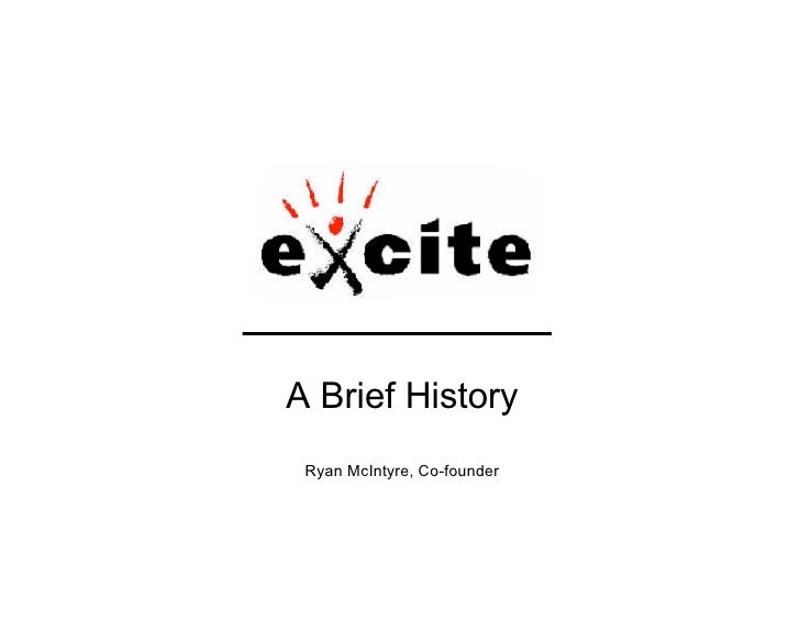 A Brief History  Ryan McIntyre, Co-founder