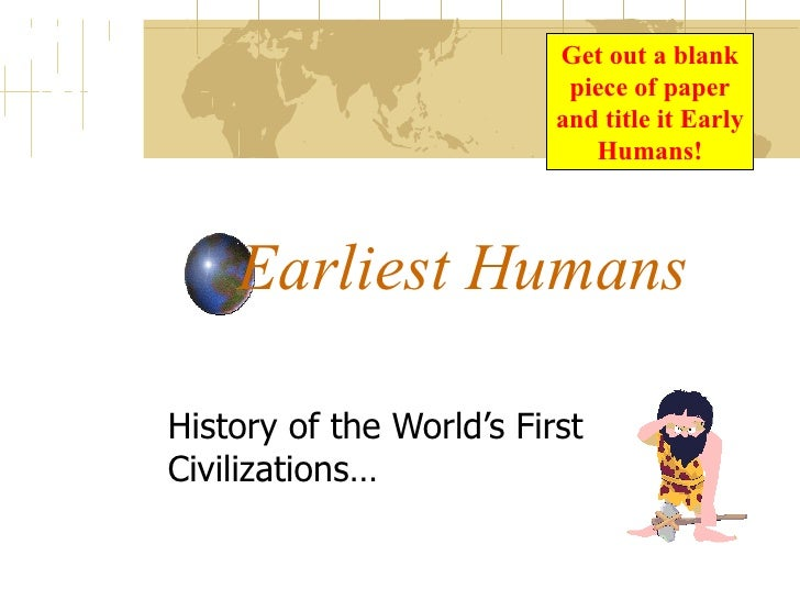 early humans essay