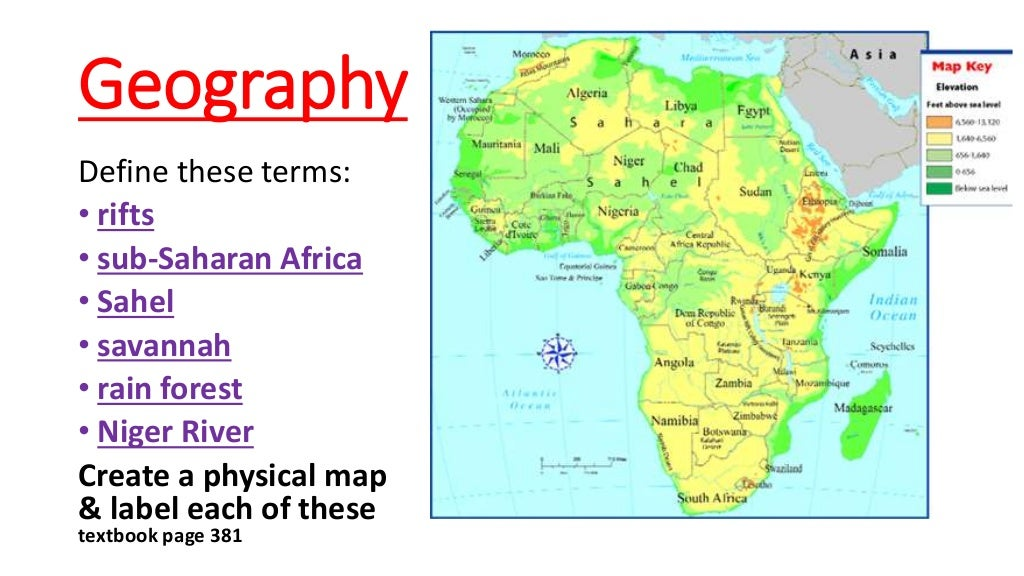 Geography & Early West Africa on