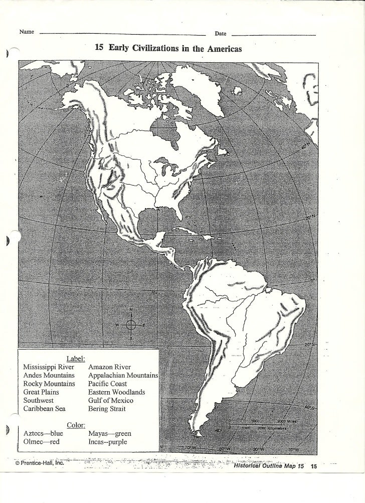 Early americas map