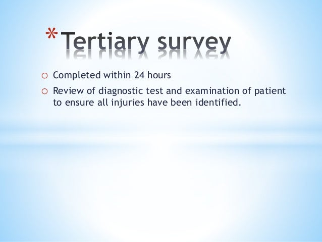Early assessment and management of major trauma