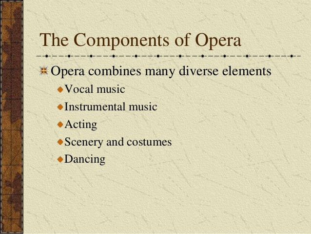 components of an opera