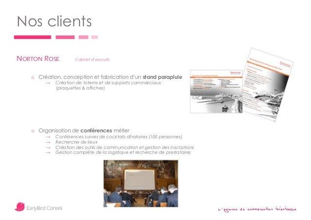' Nos clients NORTON ROSE Cabinet d'avocats o Création, conception et fabrication d'un stand parapluie → Création de totem...