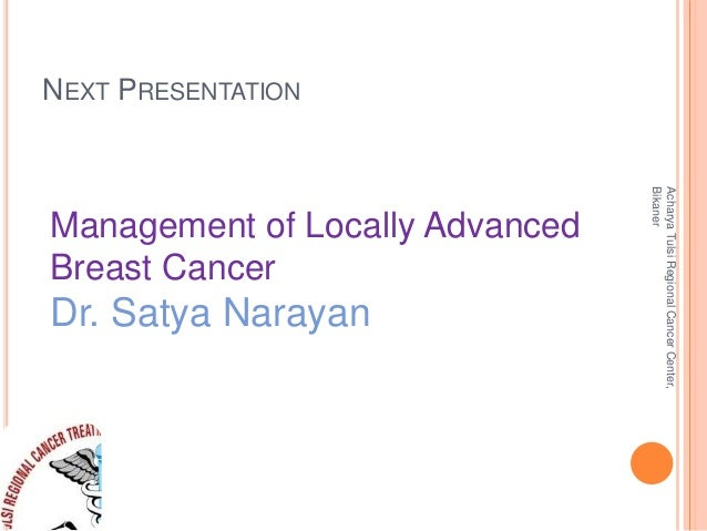 Management of Early Breast Cancer (by Dr. Akhil Kapoor)