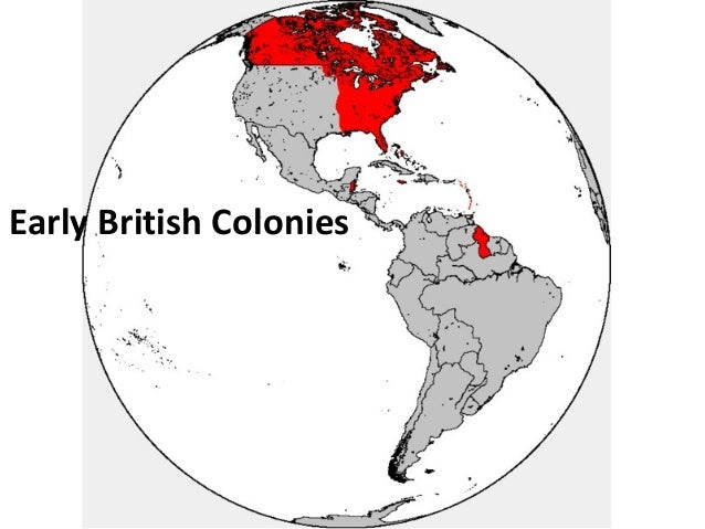 Early British Colonies U.S. History