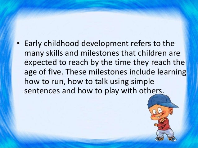 early childhood research papers Lessons from research the foundation commissioned a series of research papers to better understand the changing early early childhood field the research was.