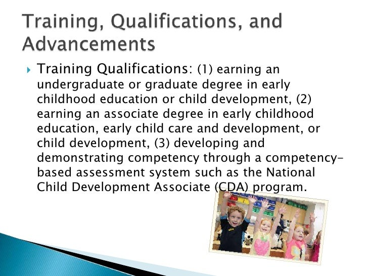Coursework in english early childhood education or child development
