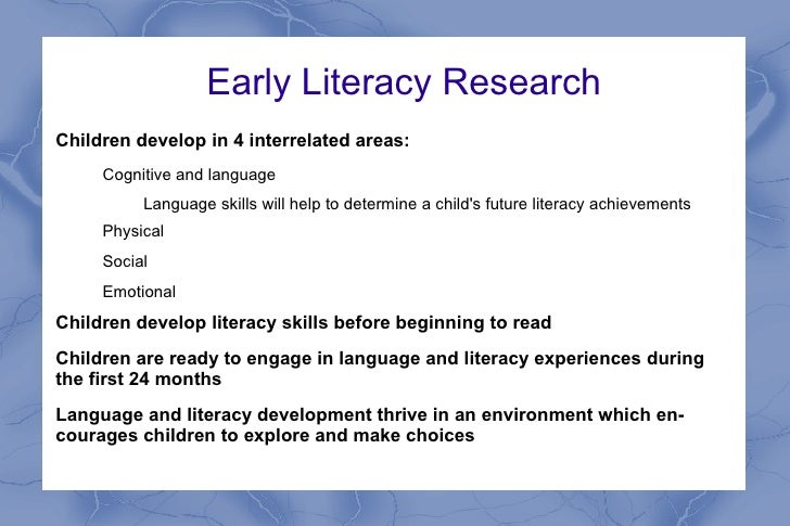 early literacy in education 2 essay Emergent literacy support in early childhood emergent literacy support in early childhood education early childhood literacy proposal expository essay on.