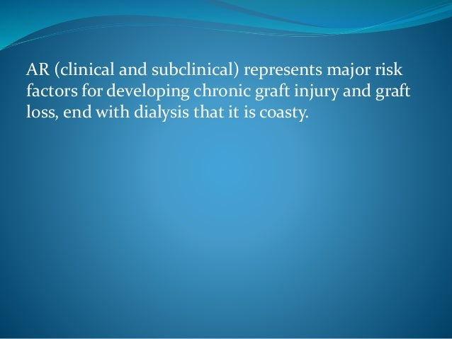 Early diagnosis of graft rejection in renal transplantation