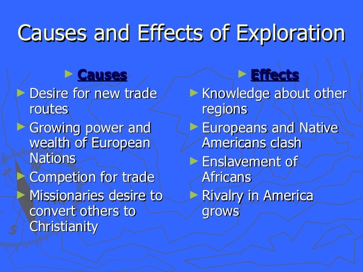 causes of the age of exploration essay Get an answer for 'what led to europe's age of exploration' and find homework help for other history questions at enotes so these are two causes.