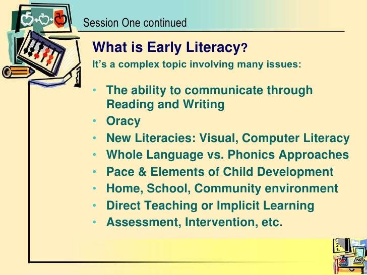 Early Literacy in Education Essay