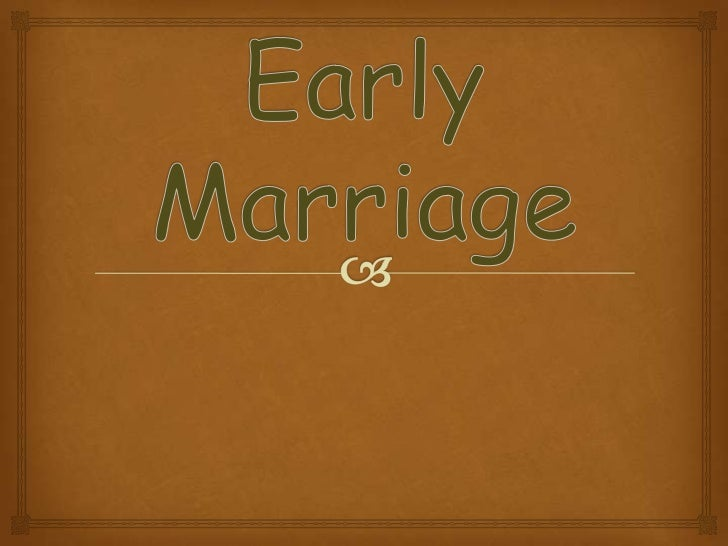 Pros and Cons of getting married at an early age