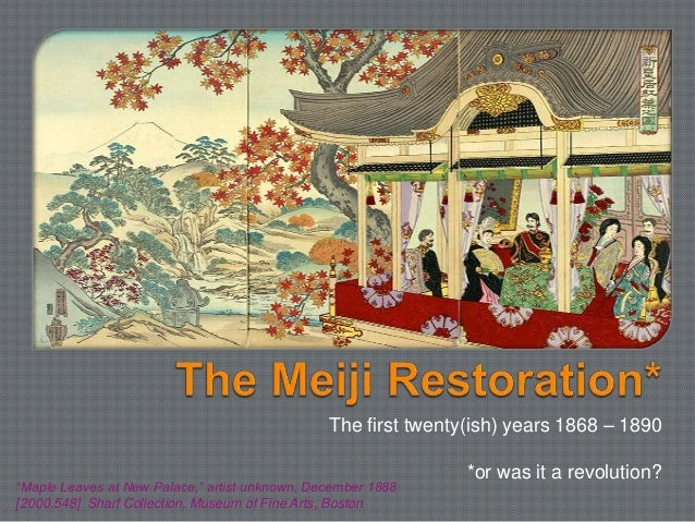 meiji restoration facts