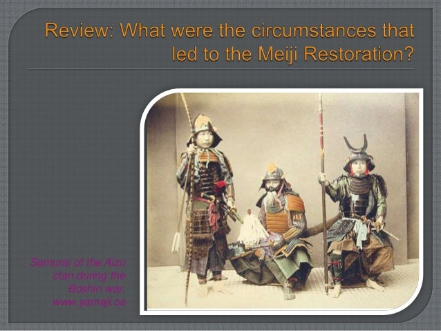 an overview of the meiji restoration in the japan Japan's tokugawa (or edo) period, which lasted from 1603 to 1867, would be the final era of traditional japanese government, culture and society before the meiji restoration of 1868 toppled the long-reigning tokugawa shoguns and propelled the country into the modern era tokugawa ieyasu's dynasty of shoguns.