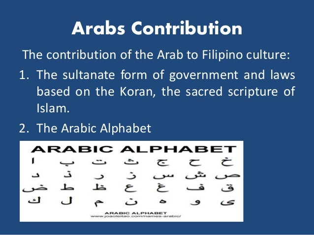 What are the influences of Chinese and Arab cultures on the Philippines?