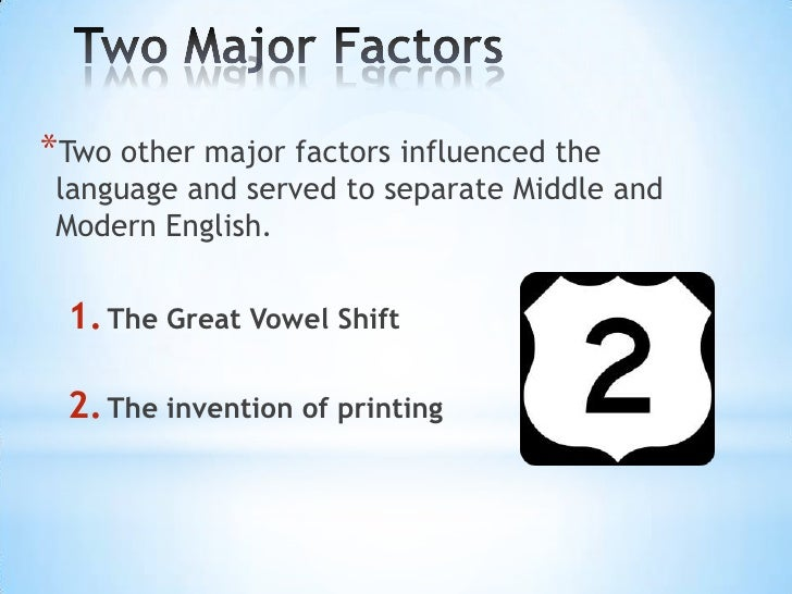 Great vowel shift examples