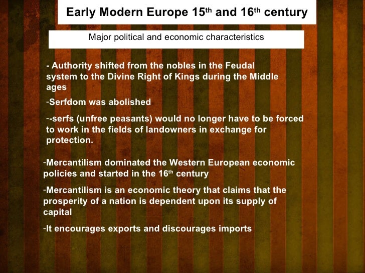 What features of modern europe have
