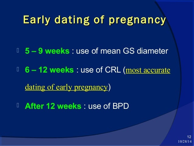 Early pregnancy ultrasonographic evaluation