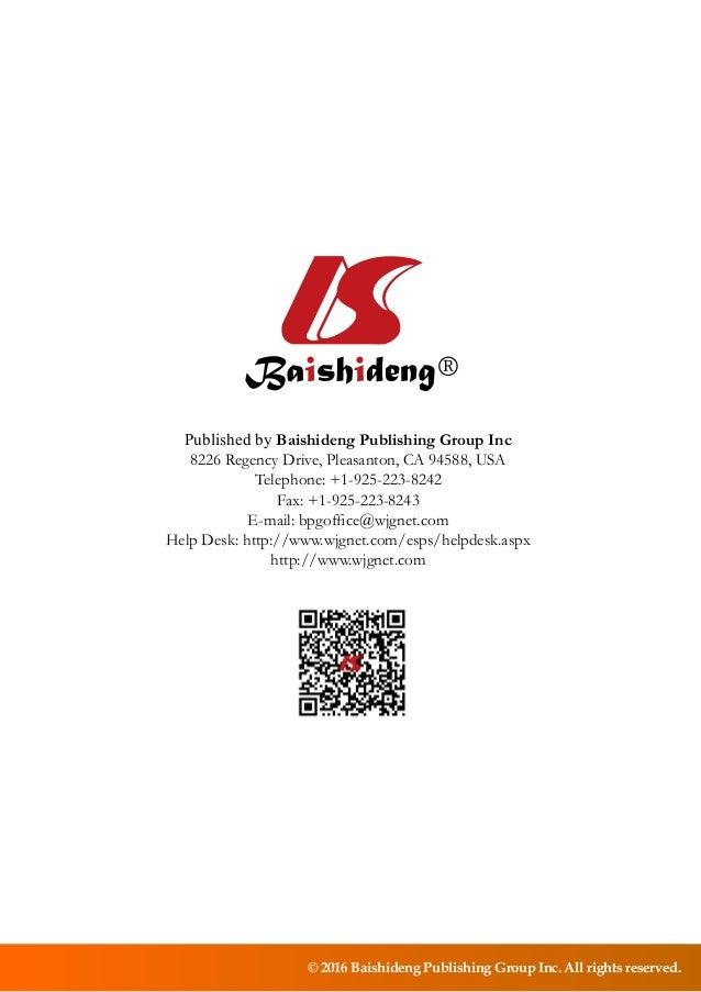 © 2016 Baishideng Publishing Group Inc. All rights reserved. Published by Baishideng Publishing Group Inc 8226 Regency Dri...