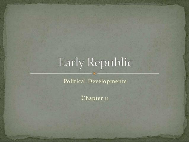 Political Developments Chapter 11
