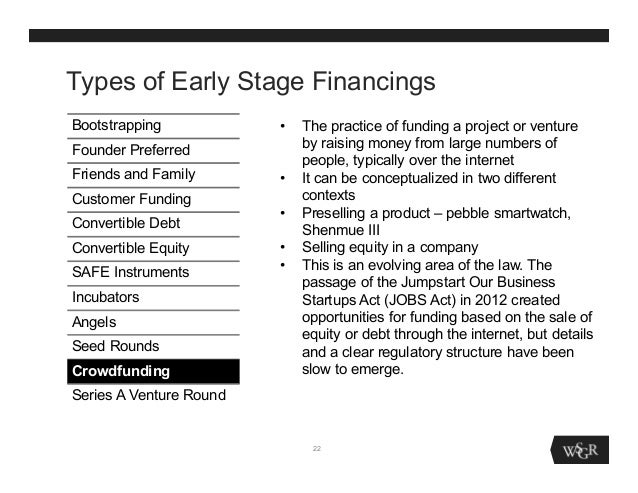 early stage project financing Project finance primer for renewable energy and  project financing became particularly  strategies that may be useful for earlier-stage energy companies.