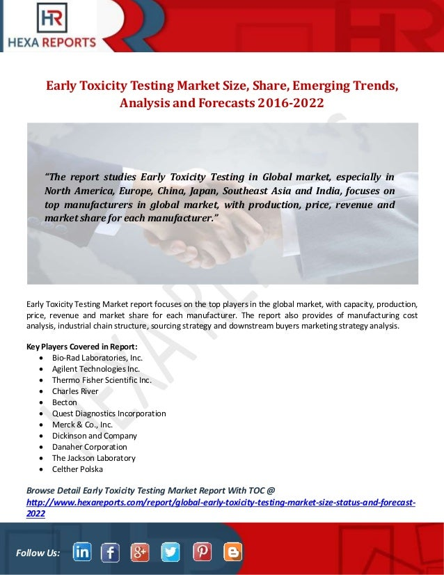 Early toxicity testing market size, share, emerging trends