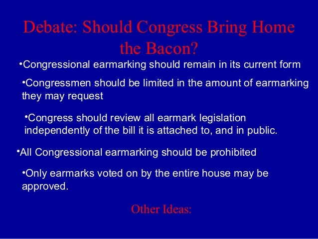 congressional earmarks Earmarks were banned by congress in 2011 but some in washington —  including president trump — say it might be time to reintroduce the.