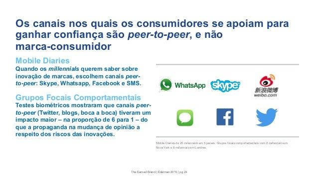 Os canais nos quais os consumidores se apoiam para ganhar confiança são peer-to-peer, e não marca-consumidor Mobile Diarie...