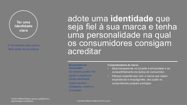 Ter uma Identidade clara adote uma identidade que seja fiel à sua marca e tenha uma personalidade na qual os consumidores ...