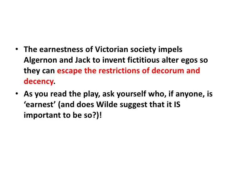 An introduction to the importance of being earnest