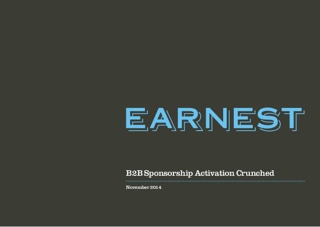 B2B Sponsorship Activation Crunched  November 2014