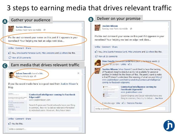 3 steps to earning media that drives relevant traffic     Gather your audience                      B   Deliver on your pr...
