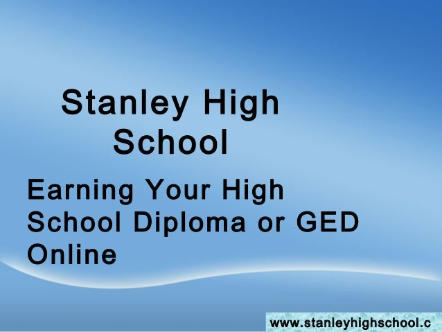 earning your high school diploma or ged online