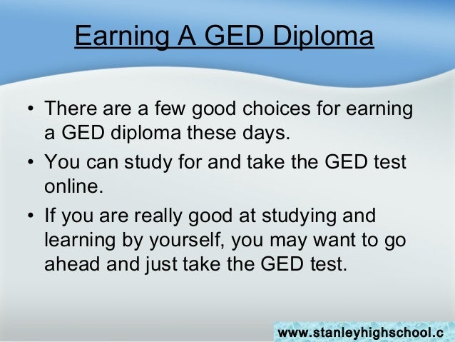Get Your Ged Online >> Earning Your High School Diploma Or Ged Online